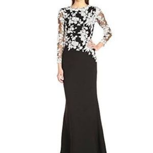 Tadashi Shoji Black &White Gown